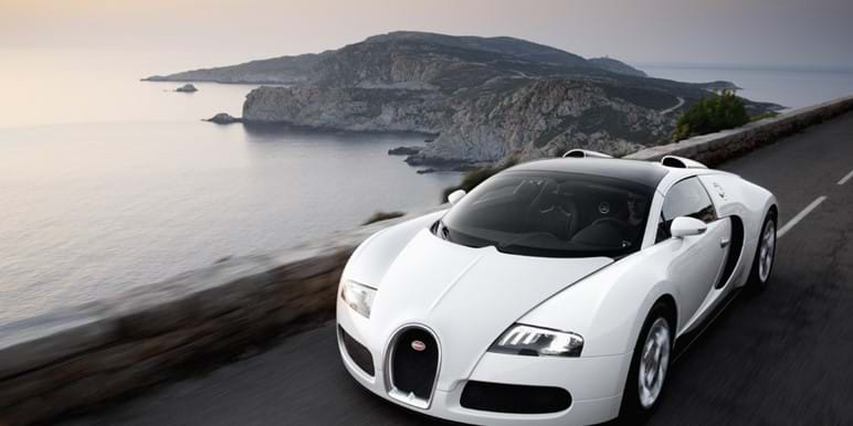 Bugatti  on the freeway