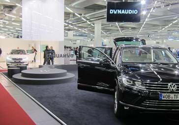Dynaudio logo in the VW store