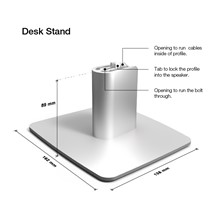 Dimensions of Xeo 2 desk stand