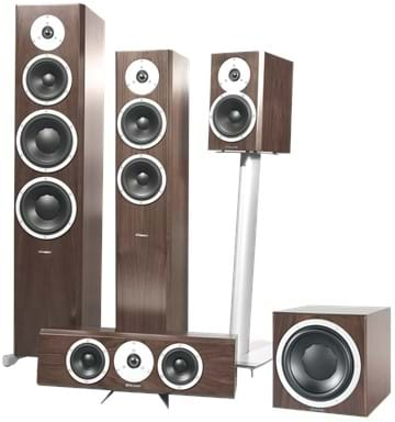 Excite family with Sub in Walnut Satin