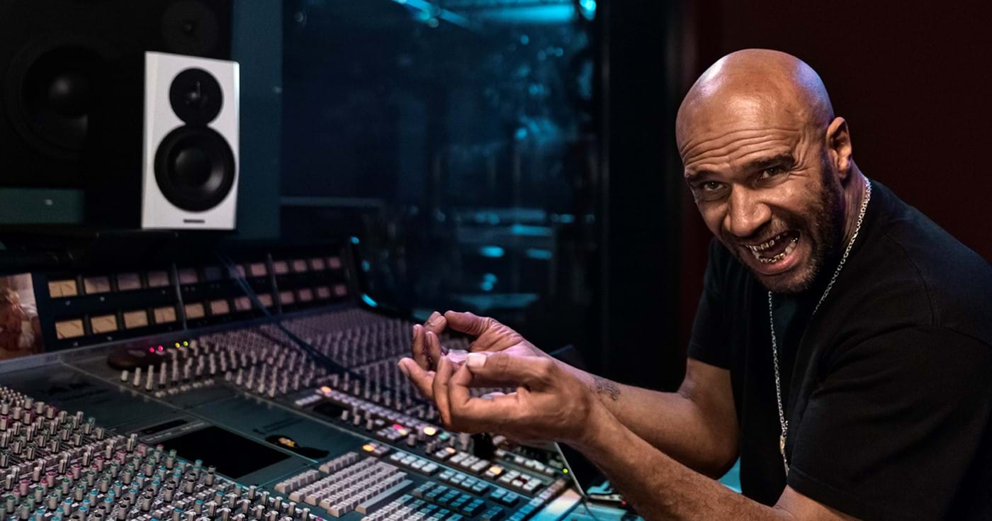Goldie in the studio