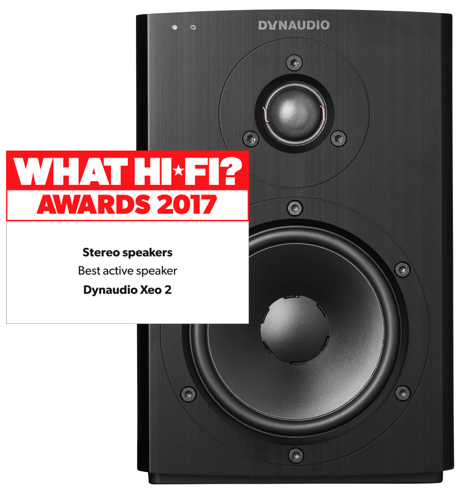 Black Xeo 2 Best Active Speaker of the Year at What Hi-Fi awards