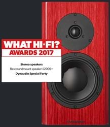 Red Special Forty Best Stereo Speaker +£2000 at What Hi-Fi awards
